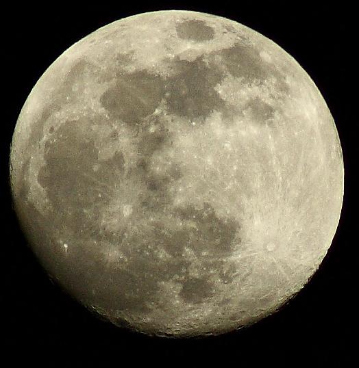 Hey its the moon.